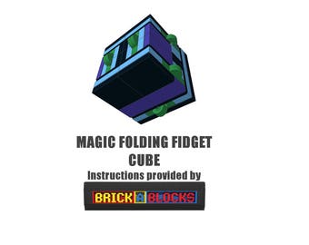 Downloadable Instructions for Building your own Magic Folding Fidget Cube with LEGO Bricks