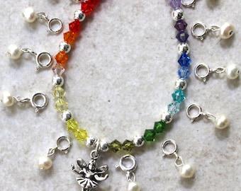 Rainbow Tooth Fairy Bracelet Ensemble. Version 3. Made To Order