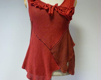 Knitted linen top, L size. Perfect for Summer.