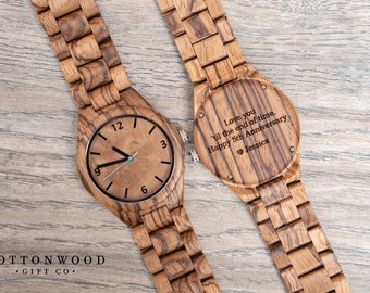 Wood Watches for Men, 5th Anniversary Gift, Father's Day Gift, Men Wooden Watch, Gift for Dad, Men's Wood Watch, Mens Watch, Wood Watch