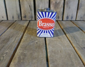 Vintage Brasso Can, Vintage Tin Can