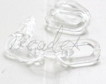 100pcs / Clear Oval Acrylic Chain / Plastic Chain / Clear Chain