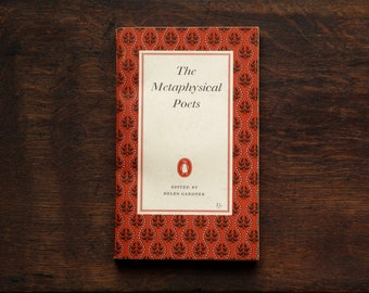 Poetry book The Metaphysical Poets vintage 1950s paperback the Penguin Poets series