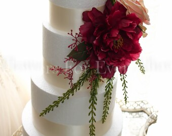 wedding cake silk flowers decorations wedding cake flowers etsy 24546