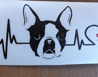 Boston Terrier Decal-dog lover gift-dog breed-gift for dog lover-dog stickers-dog decal-car decal- pet decal-gifts for dog lovers-dog gift
