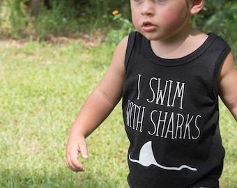 Monochrome Shark Baby + Toddler Shorties