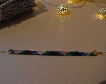 Myuki hand woven pearl bracelet