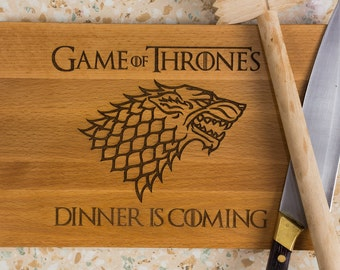Game of thrones unique board, Game of thrones gift, House Stark, Winter is Coming, houses of Westeros, Cheese board gift