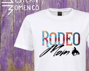 Rodeo Mom polyester blend sublimated tee
