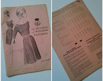 Vintage Sewing The Duchess of Windsor Pattern Book, The Royals Fashion, The Crown Vintage Patterns, New Look Sewing, Vintage Fashion, 1965