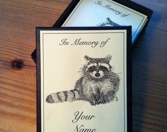 Booklabels Racoon 50 Personalized Ex Libris Bookplates