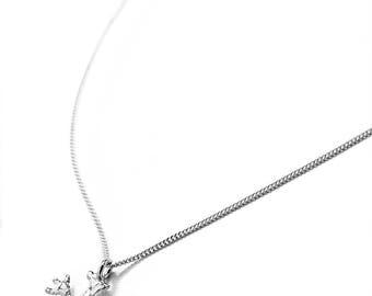 Mini silver Lichen pendant