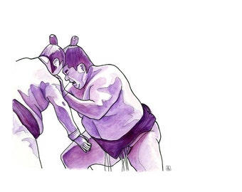 Purple Sumo // Limited Edition Archival Print