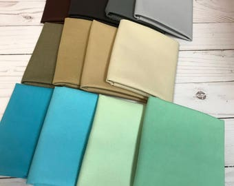 12 Naturescapes Fat Quarters in Brown, Gray, Tan, Blue and Green Tones