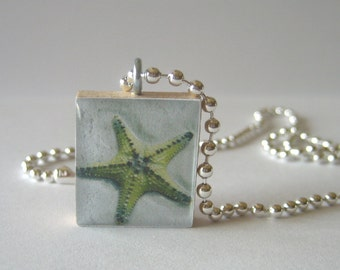 Starfish Scrabble Tile Necklace