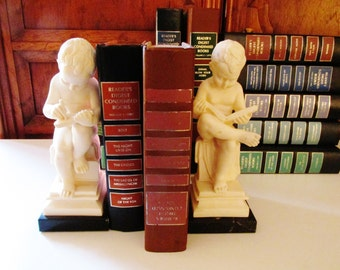 Vintage G. Ruggeri Bookends, Nursery Decor, Boys Room Decor, Libary Decor, Boys Reading Books, Italian Bookends
