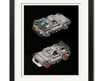 Back to the Future the Delorean Time Machine Poster Print