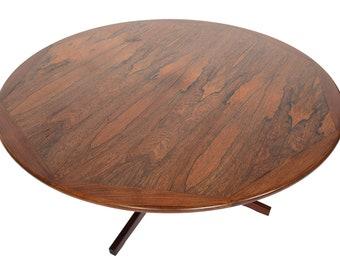 Danish Modern Mid Century Brazilian Rosewood Pedestal Base Coffee Table