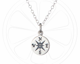 FREE SHIPPING USA, Compass Necklace, Compass Jewelry, Compass Pendant, Wanderlust Jewelry, Wanderlust Gift, Travel Gift, Jewelry, Christmas