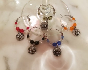 Divergent Factions Themed Wine Charms