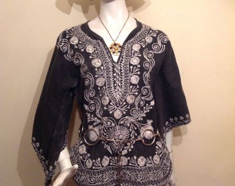 Hippy embroiderd india inspired top.
