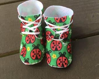 Handmade Ladybug Baby Shoes