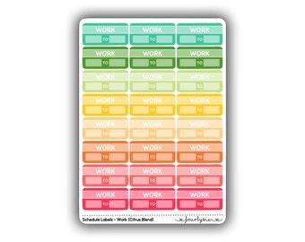 Schedule Labels - Work (Citrus Blend)