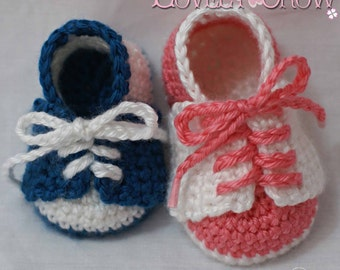 Baby Shoes Crochet Pattern for LITTLE SPORT SADDLES digital