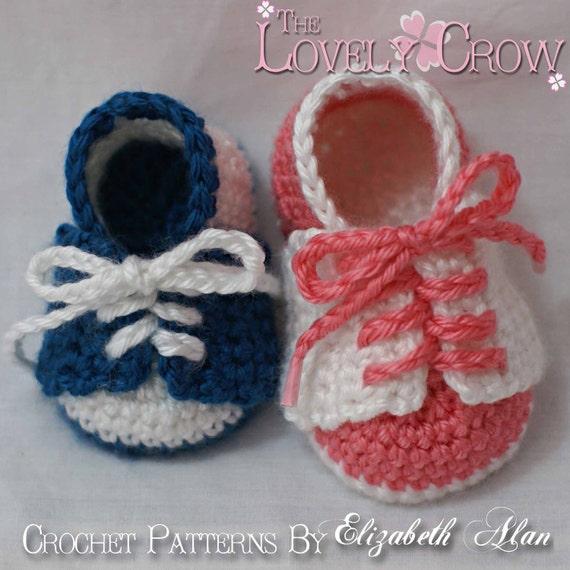 Baby Shoes Crochet Pattern For Little Sport Saddles Digital