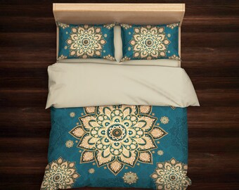 Bohemian Bedding Set, Boho Bedding, Mandala Bedding, Hippie Bedding, Ethno Bedding Set, Mandala Duvet cover, Indie Bedding, Boho Decor