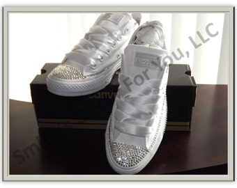 Wedding/ Homecoming /Prom Low tops bling converse