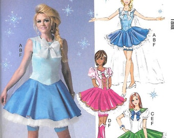 SAILOR MOON McCall's COSTUMES Pattern 7101 Misses Sizes 12 14 16 18 20