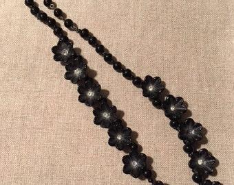 Vintage celluloid flower necklace