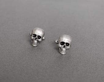 Skull Cufflinks Men's Cufflinks Statement Cufflinks Steampunk Cufflinks Antique Silver Skulls Vicortian Gothic Father's Day Gifts for Him