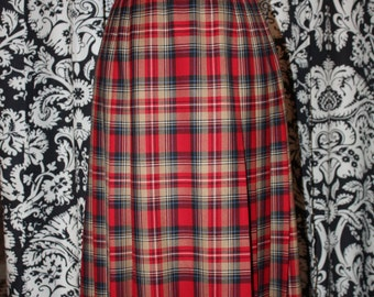 Vintage 1960's - 70's Pendleton Skirt;  Item #325-SK