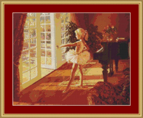 I Love To Dance Cross Stitch Pattern /Digital PDF Files /Instant downloadable