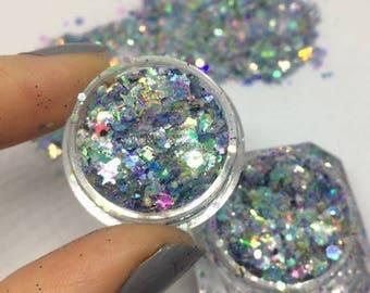 Chunky Glitter / Festival Body Glitter / Nail Glitter / Holographic Glitter /KINZA\