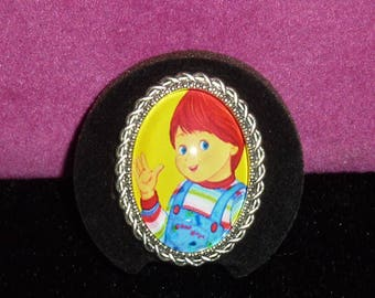 Good Guy / Child's Play Cameo Ring / Horror Ring / Chucky Ring / Horror Jewelry / Child's Play Ring / Horror / Good Guy Doll / Childs Play