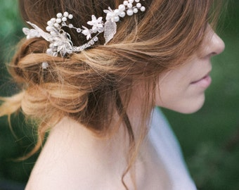 Wedding Hair Vine, Bridal Hair Wreath