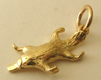 Genuine SOLID 9K 9ct YELLOW GOLD Platypus Animal charm/pendant