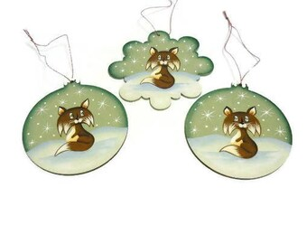 Fox Ornaments | Fox In The Snow Tole Painted Ornament