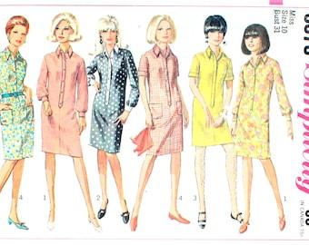 Shirt Dress in Mini Length or Knee Length Bust 31