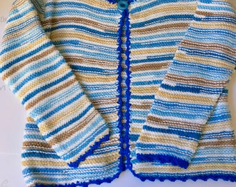 Hand knitted cardigan for girl