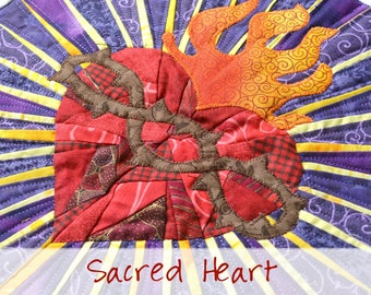 Sacred Heart of Jesus Quilt Pattern: Divine Mercy Quilts