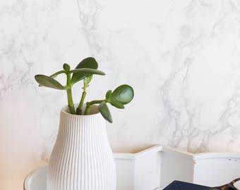 Straight Lined Vase - 3D printed - 3D - Custom - Watertight - Plastic - Decor