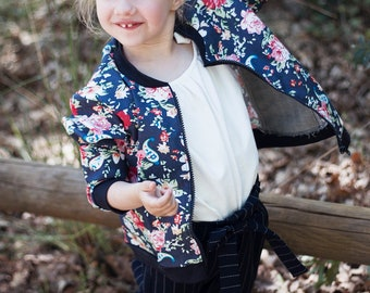 BOMBER jacket floral print - from 3 to 8 years