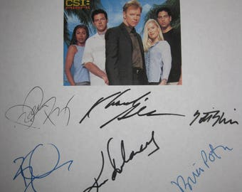 CSI Miami Signed TV Script Screenplay Autograph x9 David Caruso Adam Rodrigez Rory Cochrane Emily Procter Kim Delaney Rex Linn Boti Bliss
