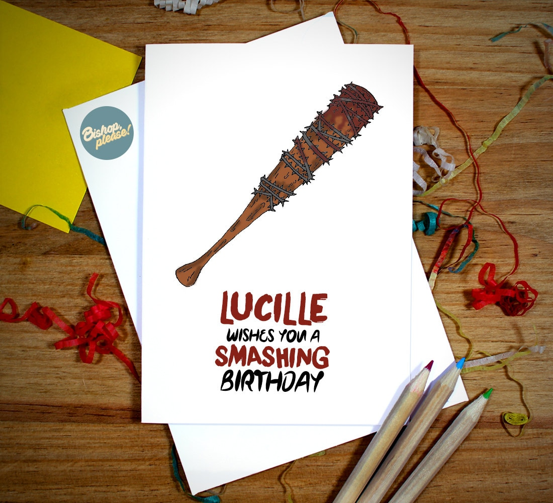 Lucille wishes you a smashing birthday walking dead tv comic zoom m4hsunfo