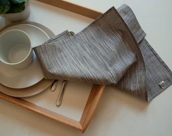 "Large Linen Napkins, Cloth Napkins, Dinner Napkins, 18"" x 18"", set of 4, natural/linen/textured."