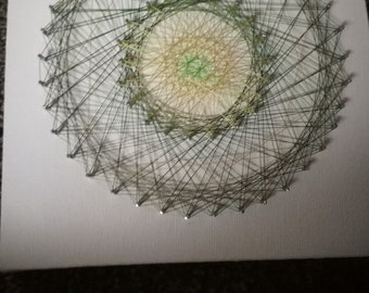 String art Mandala, wall hanging